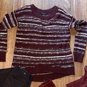 🍁Calvin Klein burgundy striped knitted sweater